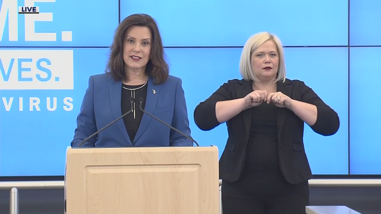 Gov Whitmer Extends Michigan S Stay Home Order To May 15 Loosens Restrictions On Business And Travel